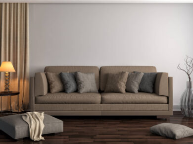 Jaki wybrać kolor poduszek do brązowej kanapy?